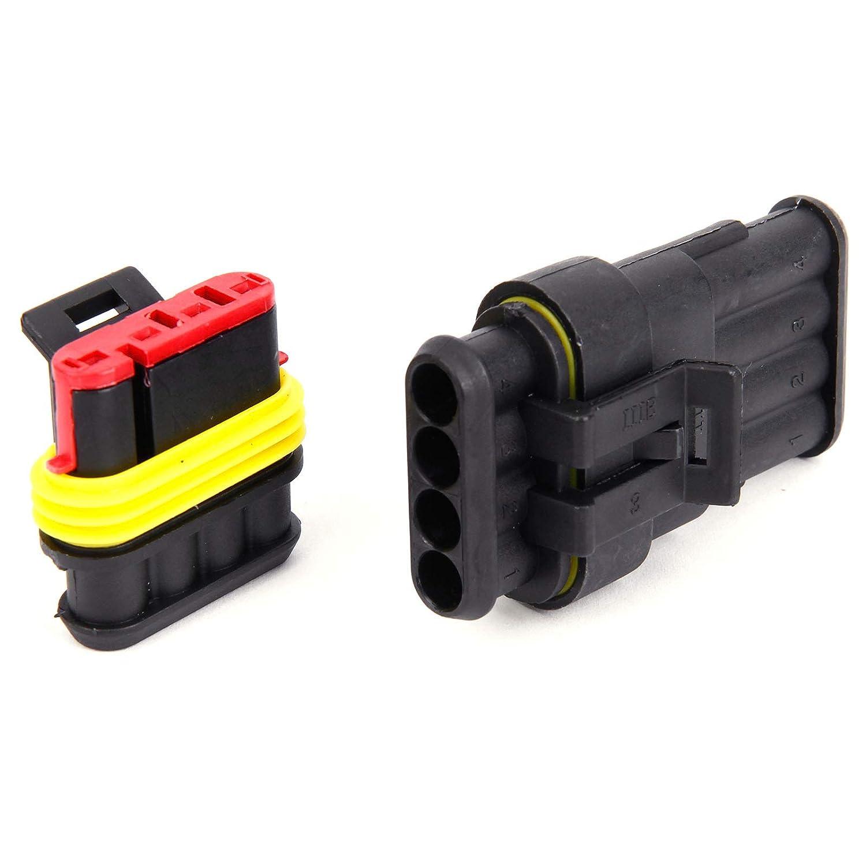 4-polig Superseal Stecker Steckverbindung Wasserdicht Auto KFZ Boot 10 Set