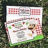 Italian Party Invitation Printable or Printed - Pizza Pasta Italian Rehearsal Dinner Party - Italian Waiter Collection