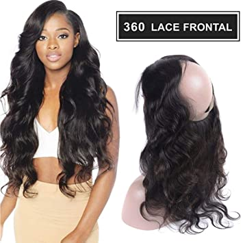 Hair Extensions & Wigs Beautiful Rosa Beauty Straight 360 Lace Frontal Pre Plucked With Baby Hair Natural Color Remy Human Closure Free Shipping Perfect In Workmanship