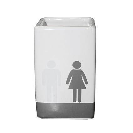 Carpemodo – Vaso para cepillos de dientes, estante/cerámica/rectangular/¿