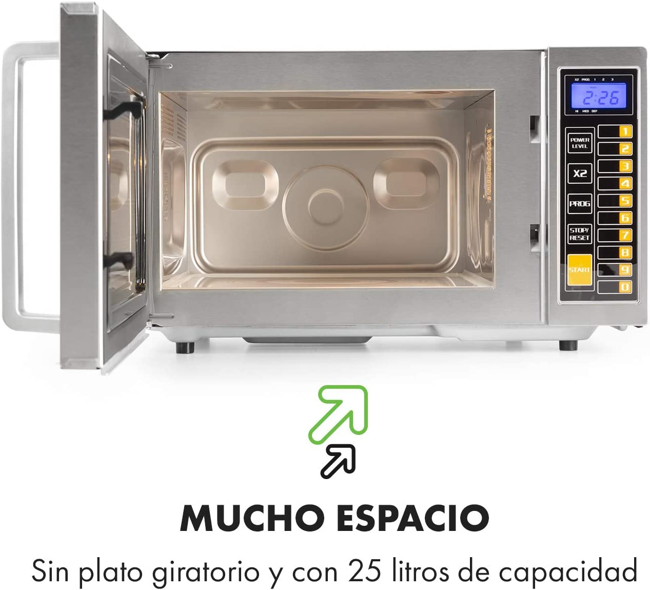 Klarstein Pro Bestzeit 25 Microondas Profesional - gastronomía ...
