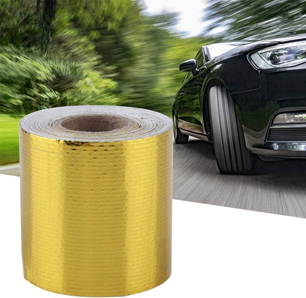 Aluminum Foil Tape Gold 5M*5Cm Fydun 5m 5cm Car Aluminum Foil Adhesive Reflective Heat Shield Wrap Tape for HVAC Duct Pipe Insulation