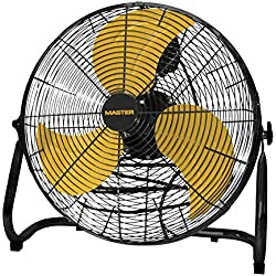 Master PROFESSIONAL Mac-12F High Velocity Direct Drive Floor Fan, Black