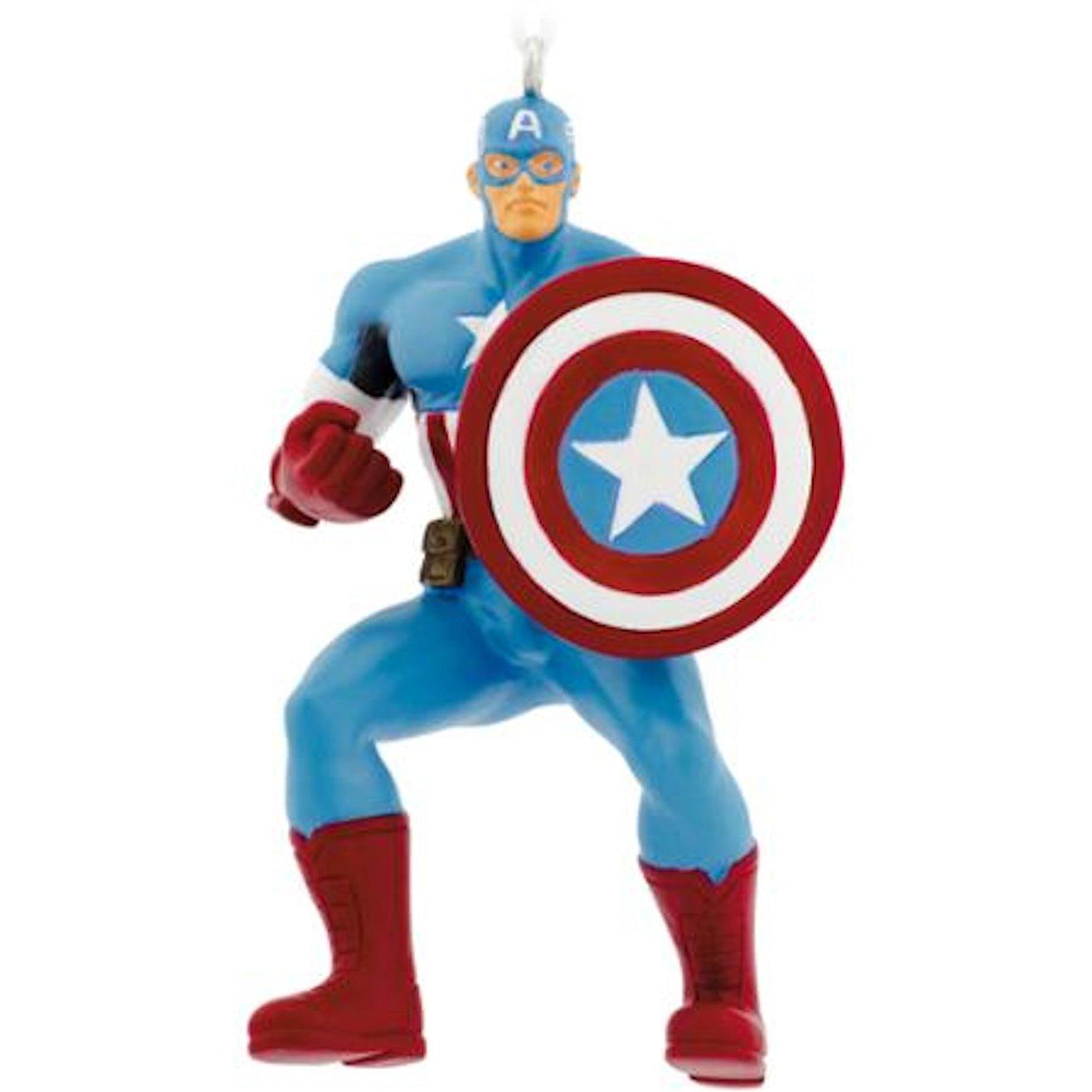 Hallmark Marvel Avengers Assemble Captain America Christmas Tree Ornament