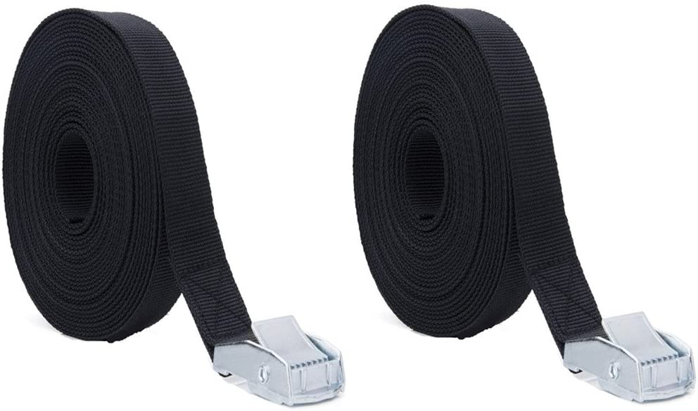 cinghie per camping tensione veloce attivit/à allaria aperta set di 8 cinghie di fissaggio ideali per fissare la bicicletta al supporto posteriore per auto chiusura a morsetto PEIUJIN