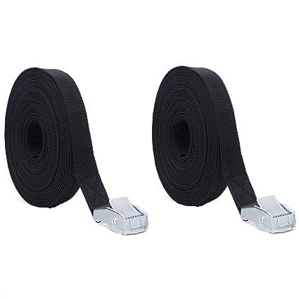 500 lbs Load Cap // 1500 lbs Break Strength /— Heavy Duty Lashing Straps for Motorcycles T/&HI-B07DC31P8F PEIUJIN Ratchet Tie Down Straps 2mx25mm Black 2Pcs Moving Appliances Lawn Equipment