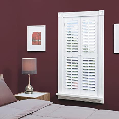 Homebasics Plantation Faux Wood White Interior Shutter Price Varies By Size
