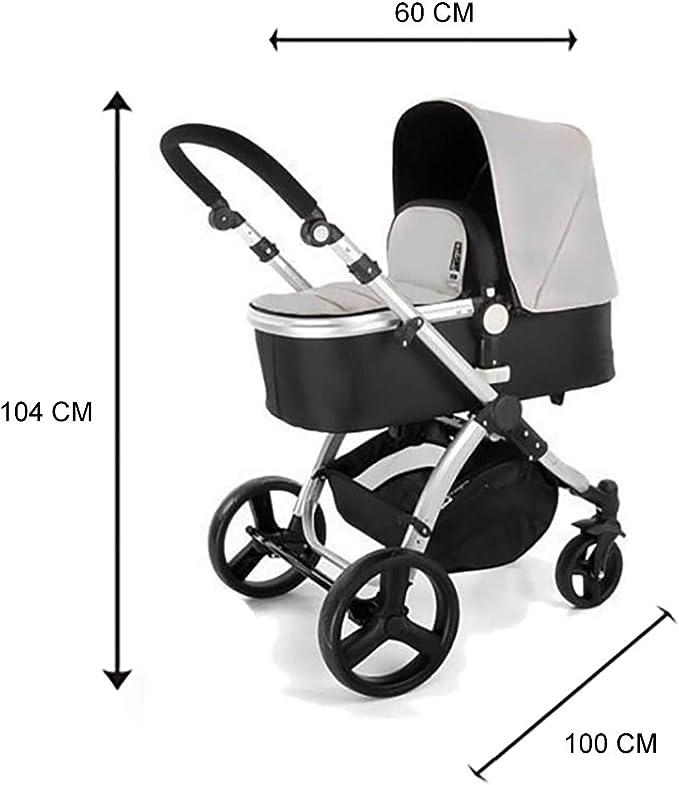 Star Ibaby Neo 3 - Cochecito de Bebé, Gris/Negro - Nuevo modelo con silla homologada hasta 22 kg: Amazon.es: Bebé