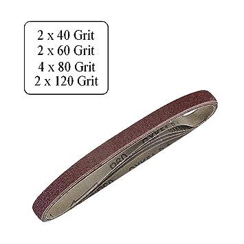 10 X Sortierte Kornung 10 X 330mm Gurtel Schleifen Fur Holz Metall