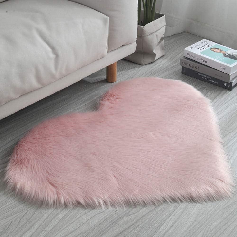 40 cm Imitazione Lana Cuore Pesca Tappeto Tappetino Materasso Peluche Rosa Peluche 30 ZYT Facile da Pulire