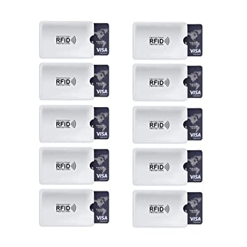 10 Unids/Set Aluminio Lector Anti RFID Bloqueo Tarjeta de Crédito Bancaria de Crédito Protección Tarjeta RFID