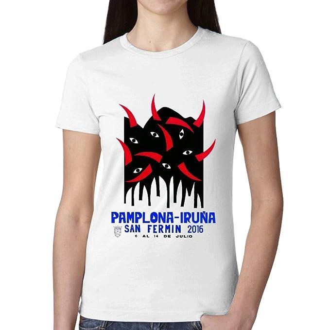 SanFe Ropa Camisetas Personalizadas Running New Tee SS - Camiseta de Pamplona San Fermin 2016 de