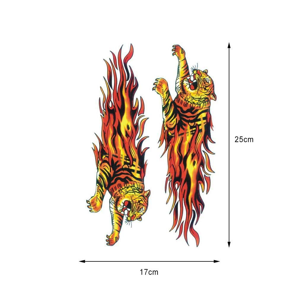 Flame Skull Motorcycle Set Stickers Pirate Personality Stickers Car Decal Stickers 2 Pcs