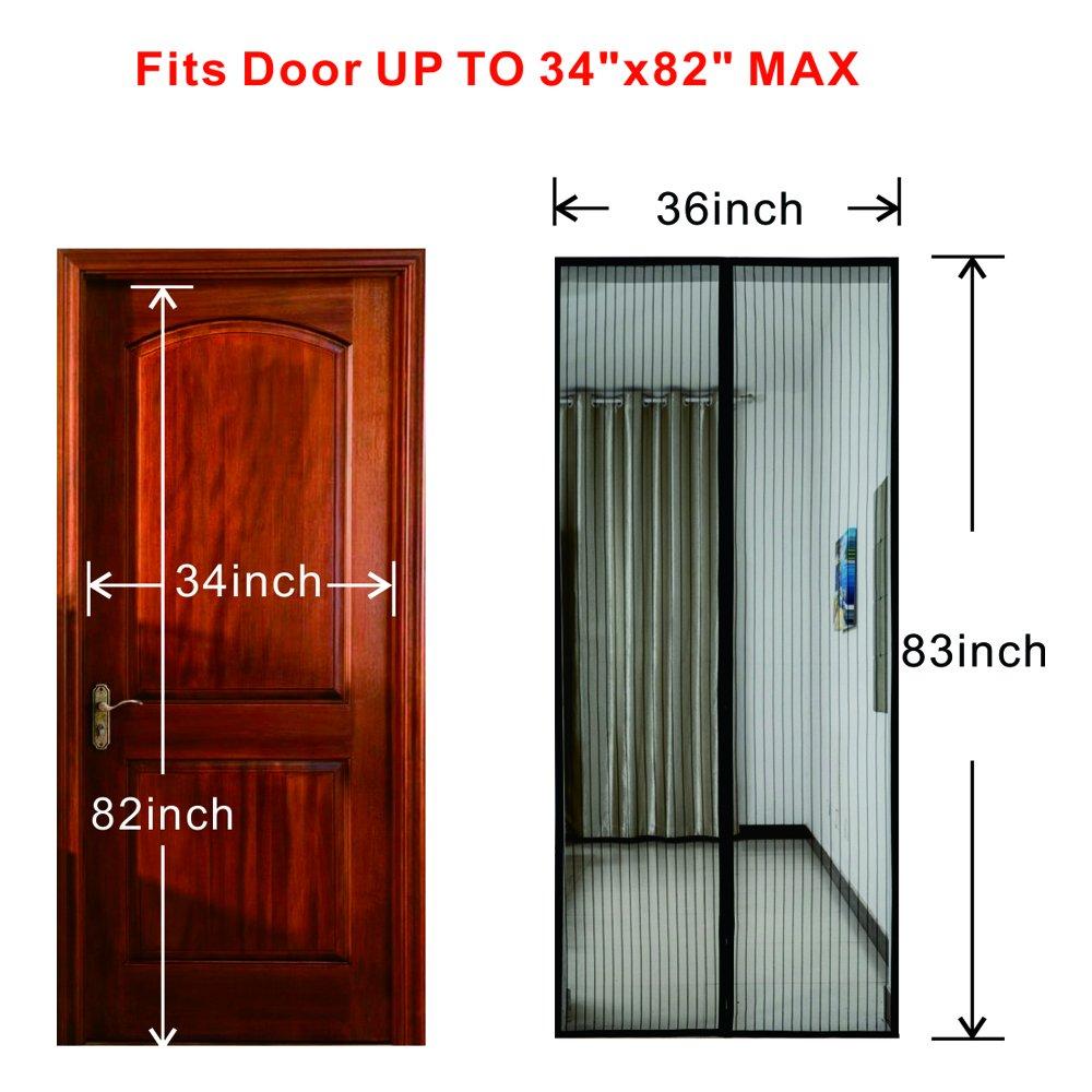 Magnetic Screen Door Mesh Screen Door Reinforced Keep Bugs ...