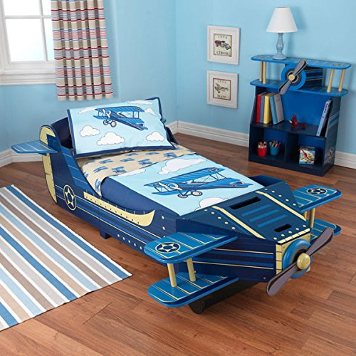 Best Prices For KidKraft Blue Airplane Toddler Bed Comes