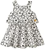 Juicy Couture Girls' Toddler Casual Dress, Vanilla/Black, 4T