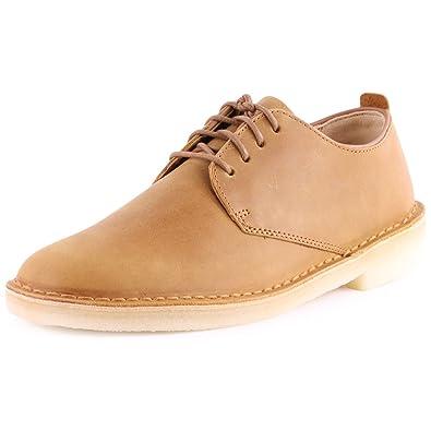 Clarks Originals Desert London Mens Leather Casual Shoes Mustard - 12 UK