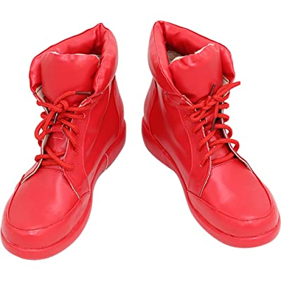 Whirl Cosplay Boots Shoes for Cells at Work Hataraku Saibou Red Blood Cell red: Clothing