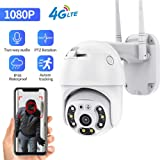 4G LTE Mobile Home Security Camera, Outdoor Security Camera, Wireless 1080P HD WiFi CCTV IP Camera with Color Night…