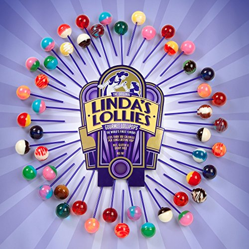 Linda's Lollies Gourmet Lollipops 96 Count Box - Nut, Gluten & Dairy Free - Fat Free