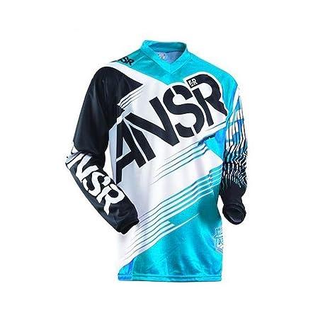 ZiJieShiYe Camiseta de Manga Larga de Deportes al Aire Libre, Traje de Descenso, Carreras de Motocross, Camiseta. (Color : 1, Size : L)
