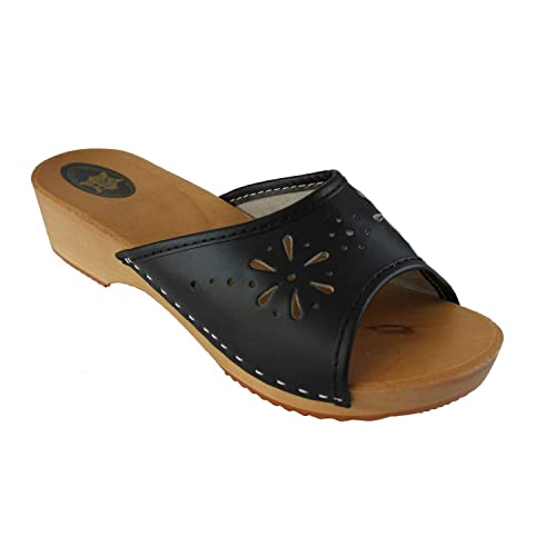 Sabots Femme en Cuir- chaussures orthopédiques
