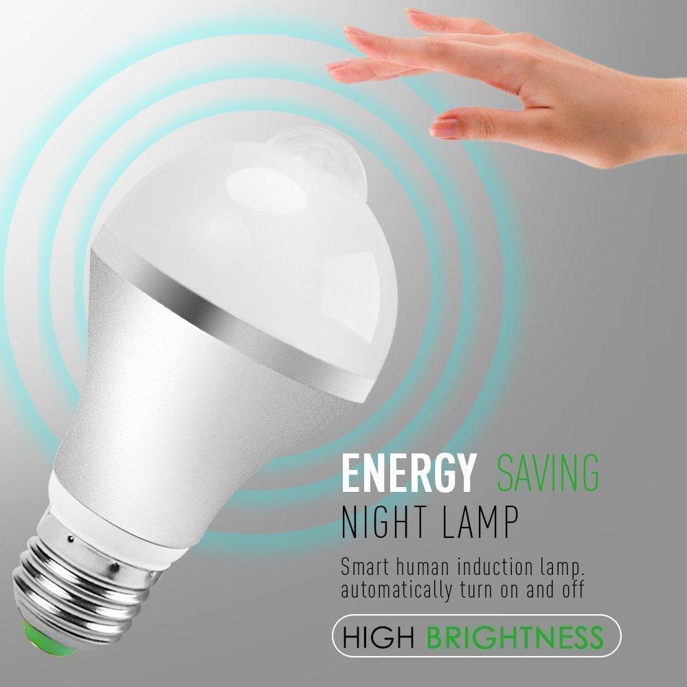 Automatic led energy saving night lamp - Motion Sensor Light Bulb Minger 9w Smart Pir Led Bulbs Auto On Off Night Lights For Stairs Garage Corridor Walkway Yard Hallway Patio