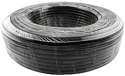 Koolance HOS-10BK-100M Tubing Roll, PVC Black, Dia: 10mm x 13mm (3/8in x 1/2in), Ea: 100m (328ft)