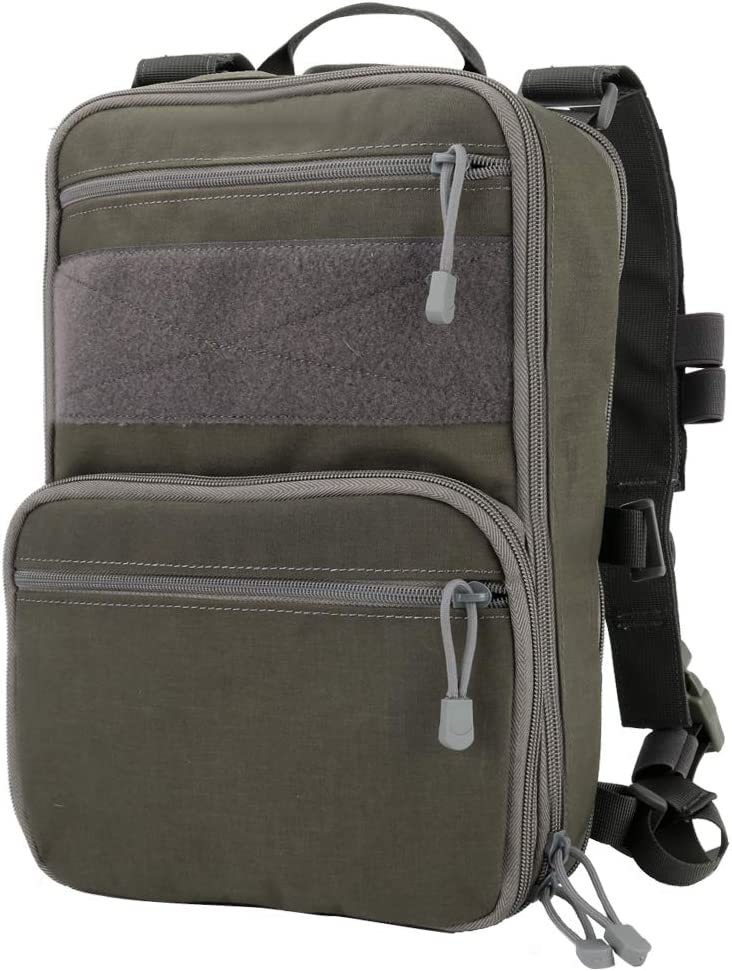 Image of the OAREA Tactical Chest Rig Vest/Molle Military backpack with two zipper pockets on front.