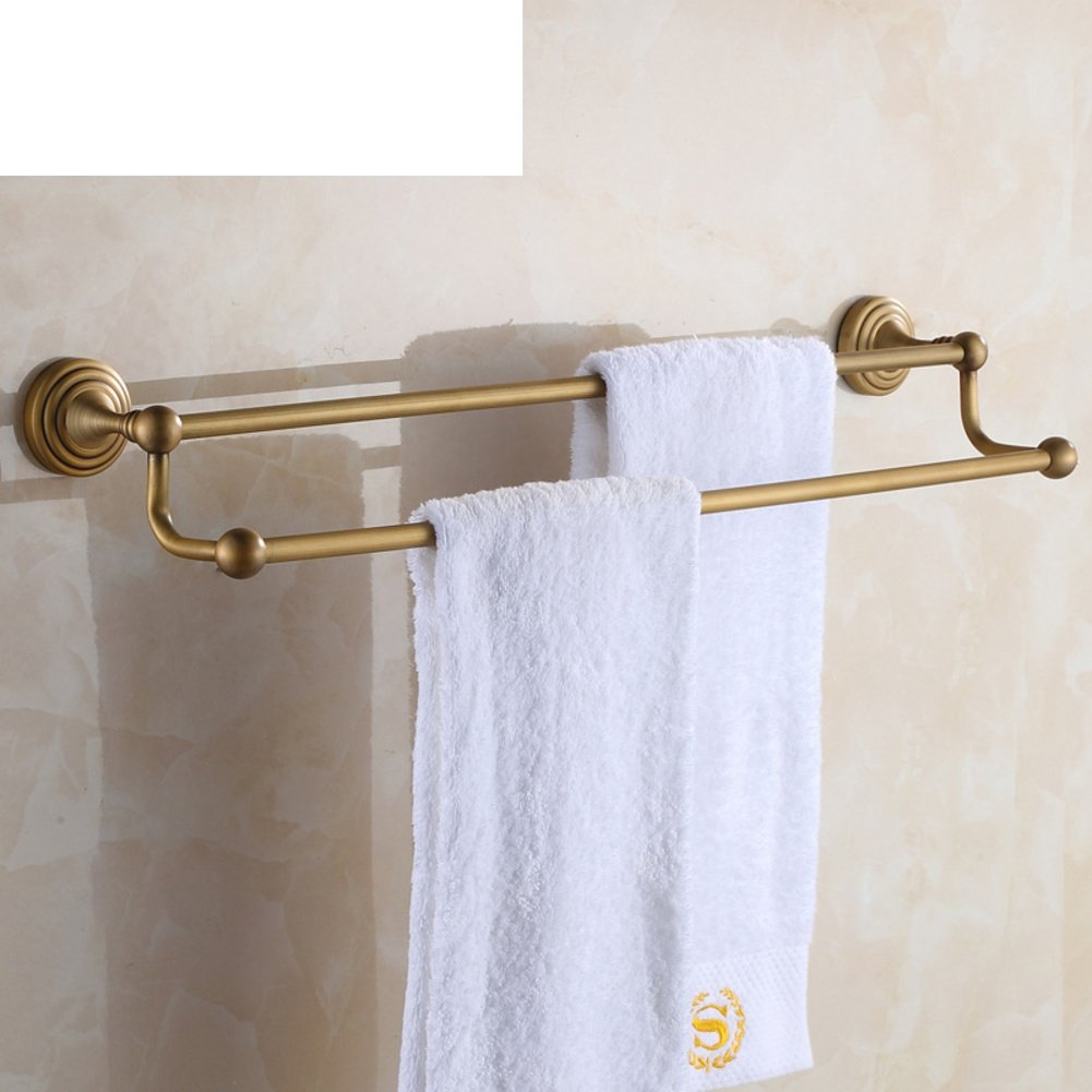 brass double bar towel rack european style bath towel rack