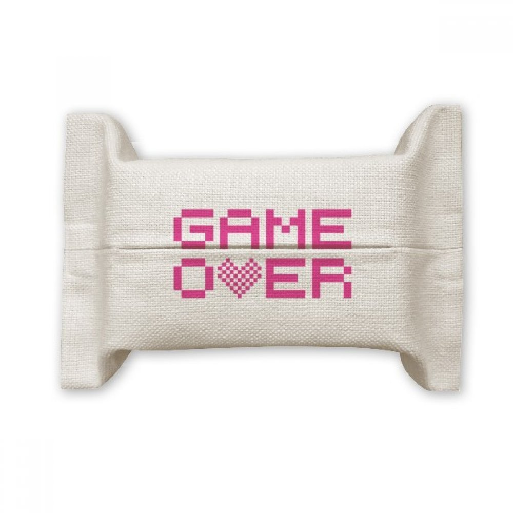 DIYthinker Pink Game Over Pixel Cotton Linen Tissue Paper Cover Holder Storage Container Gift