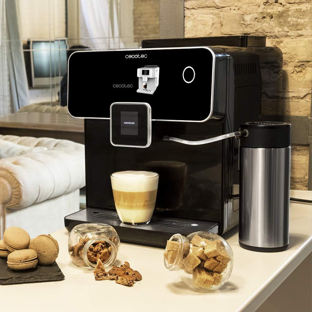 Cecotec Cafetera Megautomática Power Matic-ccino 8000 Touch Serie Nera. Tecnología ForceAroma de 19 bares de presión, Pantalla Táctil, 6 Modos ...