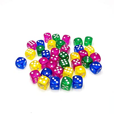 BoBoLing 6-Sided Game Dice/Colorful Dice for Board Games/Party Favors/Toy Gifts/Great for Polyhedral Dice Game or Math Games - Pack of 10 pcs Best QualityShop: Kitchen & Dining