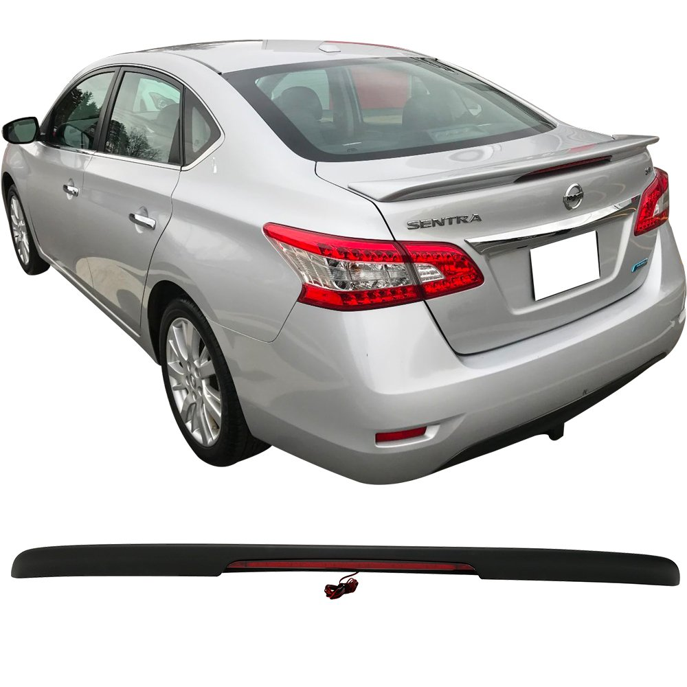 Amazon.com: Trunk Spoiler Fits 2013-2018 Nissan Sentra | ABS Matte Black Trunk Boot Lip Spoiler Wing Deck Lid By IKON MOTORSPORTS | 2014 2015 2016: ...