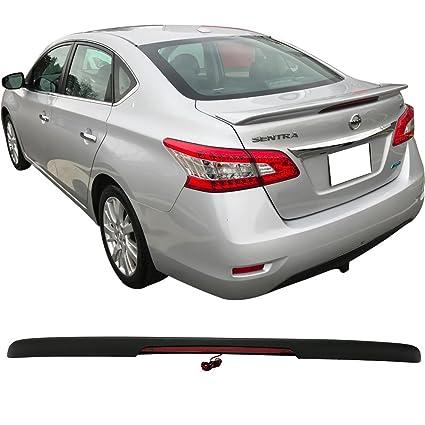 Trunk Spoiler Fits 2013-2018 Nissan Sentra | ABS Matte Black Trunk Boot Lip  Spoiler Wing Deck Lid By IKON MOTORSPORTS | 2014 2015 2016