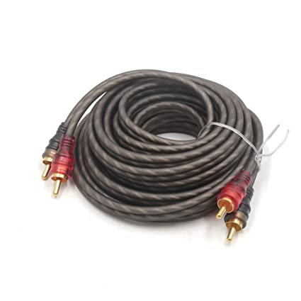 sourcing map 4,5M-5M Marrón Cable Alargador 2RCA Macho a ...