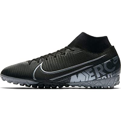 Nike Mercurial Superfly 7 Academy TF Artificial-Turf Soccer Shoe (10.5, Black)   Soccer