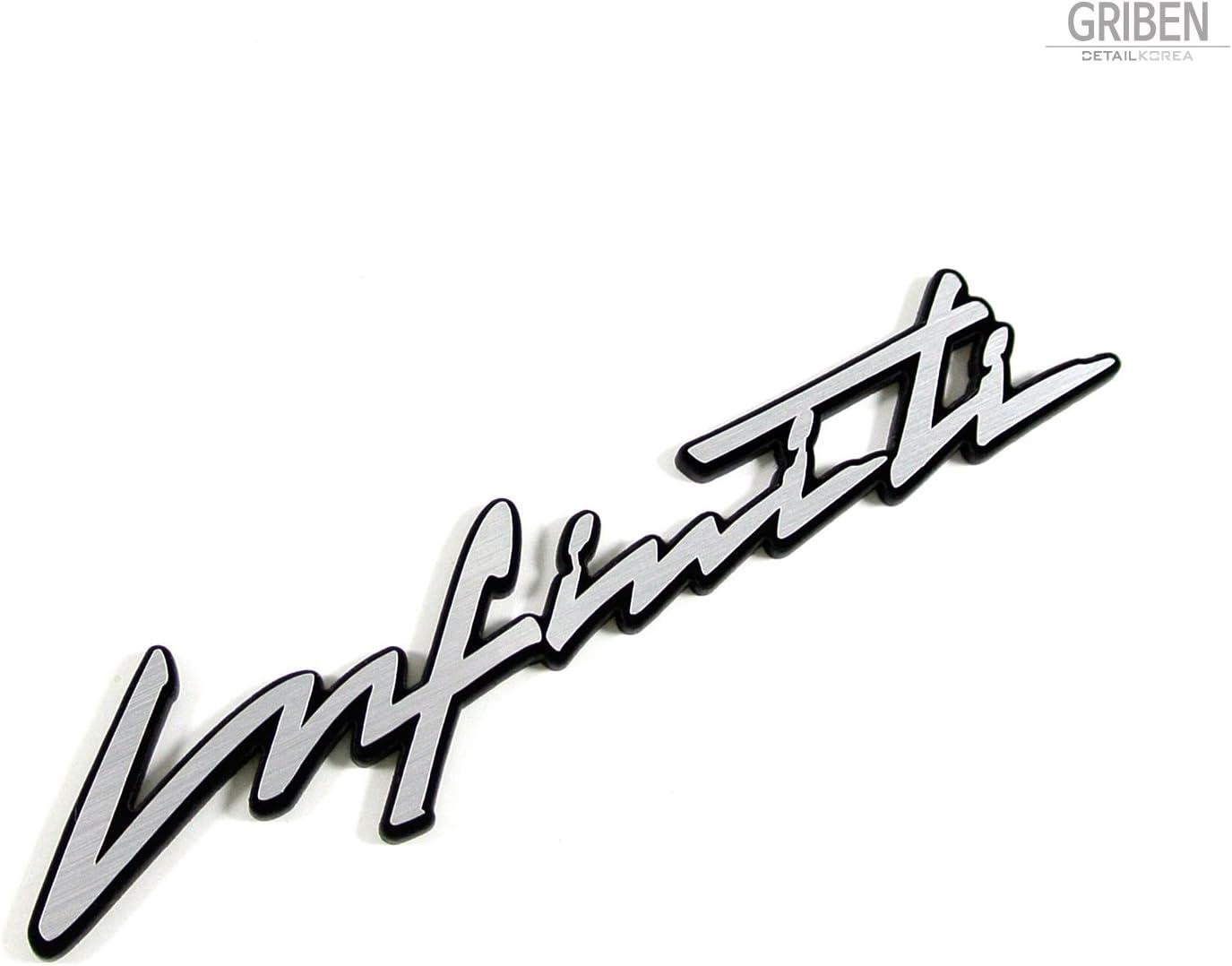 Griben Car Badge Full Name Cursive Lettering Emblem 30098