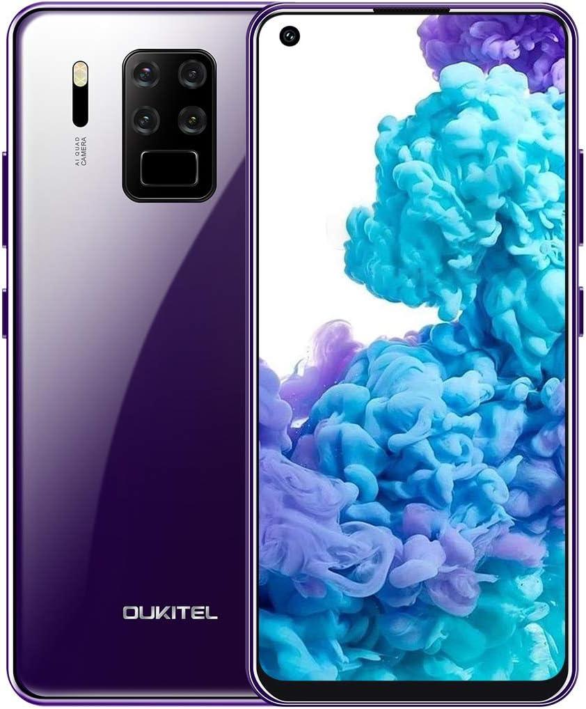 OUKITEL C18 Pro Teléfono Móvil Libre 2020, Cámara AI de Cuatro Lentes 16MP+8MP+5MP+2MP, Pantalla HD+6.55 Pulgadas,4GB+64GB, Smartphone Libres,Helio P25 Octa-Core, Batería 4000 mAh,Android 9.0,Dual 4G