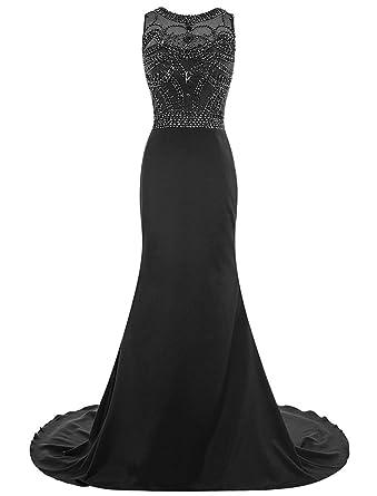 Black Mermaid Chiffon Dress