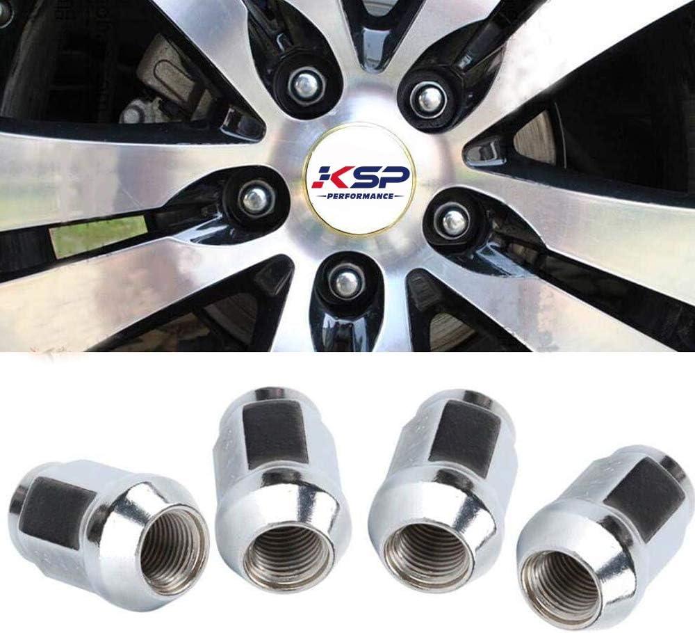 12mmx1.5 Lug Nuts 19mm KSP Set of 20 Black Steel Tuner Lug Nuts M12x1.5 Conical Acorn Seat Closed Bulge End 3//4 Hex 1.38 Length for 5 Lug Wheels