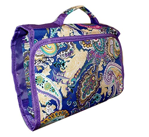Hanging Toiletry Cosmetic Organizer Bag - Roll up for Storag