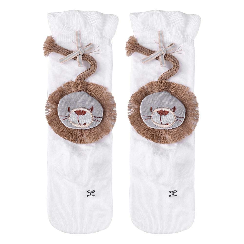 swanluck Cute Lion Baby Girls Knee High Long Socks Toddler Leg Warmer Boot Socks