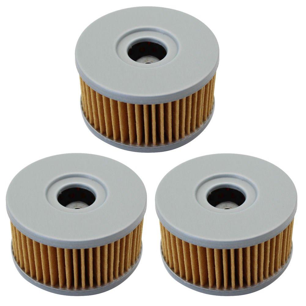 cyleto Filtro de aceite para DR250 1982 1983 1985/dr250s 1982 - 1988 1990 - 1996 (Pack de 3)