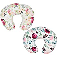 "2 Pack"" Floral"" Nursing Pillow Cover Slipcover for Breastfeeding Pillows, Soft and Stretchy Safely Breastfeeding Pillow Cover for Girl (Floral)"