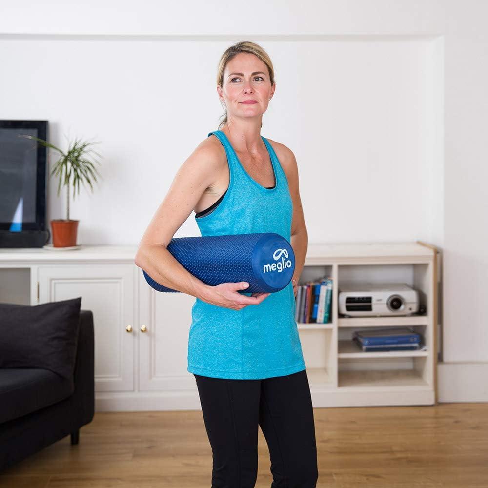 MEGLIO Rullo in Schiuma Rullo Fitness in Schiuma Leggera per Il Massaggio Muscolare Profondo dei Tessuti Trigger Point Terapia Antistress Il Recupero Alleviare la Tensione Muscolare e Il Dolore