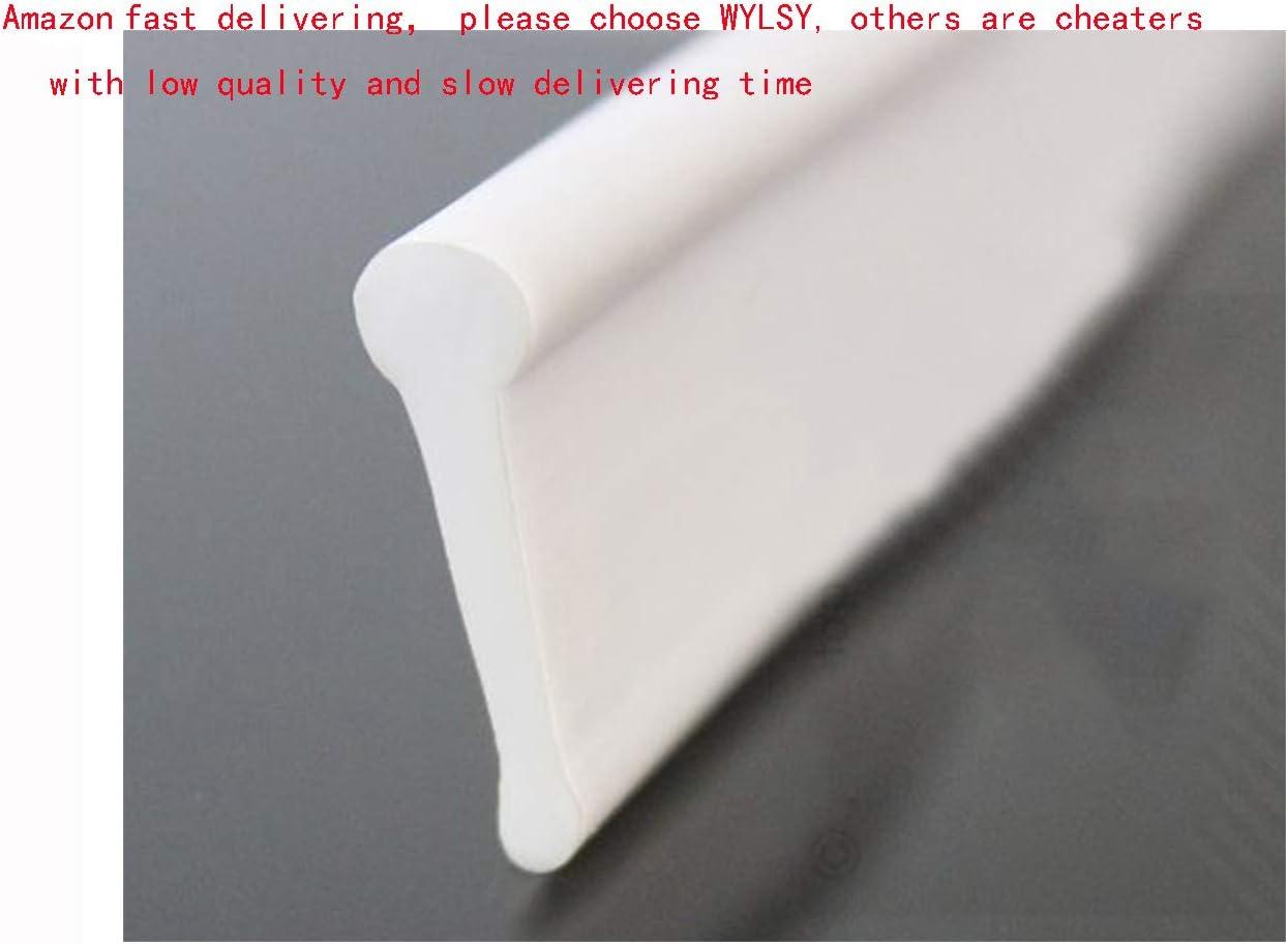 Perfil para puertas de ducha plegables y pared (5 m), blanco ...