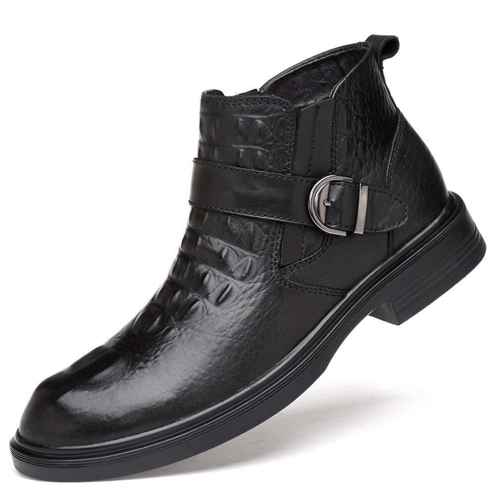 ZHRUI Krokodil-Muster-Stiefel für Männer Durable Durable Durable Non Slip Soft Sohle Komfort Stiefel (Farbe   Schwarz, Größe   EU 46) 5a9db1