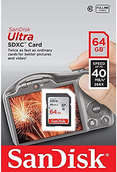 SanDisk Ultra 64GB Class 10 SDXC Memory Card Up To 40MB/s-SDSDUN-064G-G46 [Older Version]