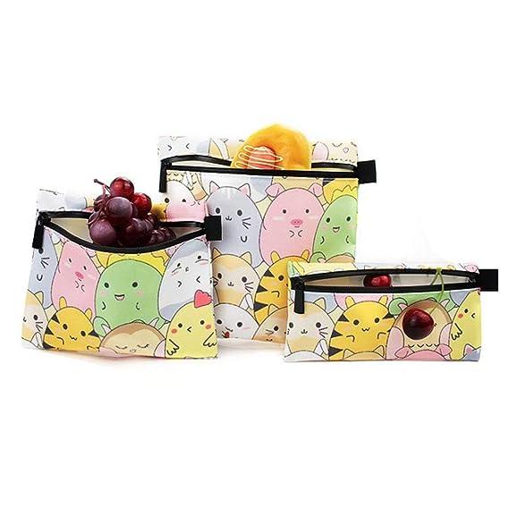 Rikey 3pcs Premium Reutilizable Sandwich & Snack Bag Bolsas de ...